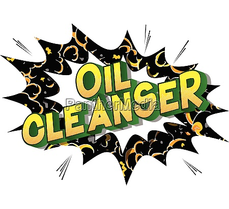 oil cleanser comic book style