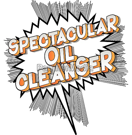 spectacular oil cleanser comic book