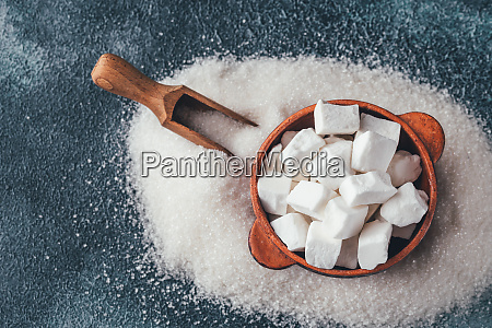 lump and granulated refined sugar