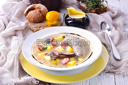 a polish easter soup with homemade