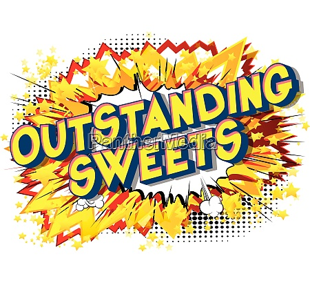 outstanding, sweets, -, comic, book, style - 26601211