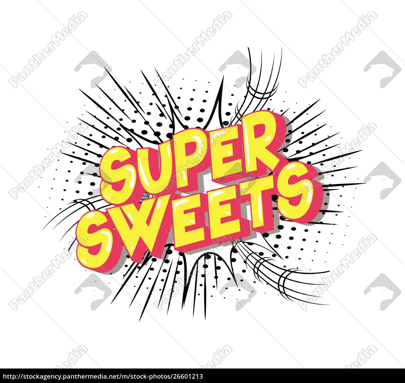 super, sweets, -, comic, book, style - 26601213