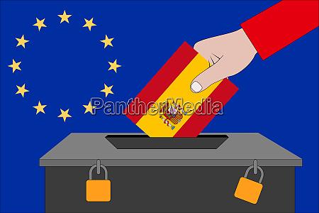 spain ballot box for the european