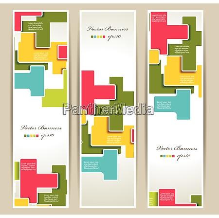 vector set of geometry banners eps10