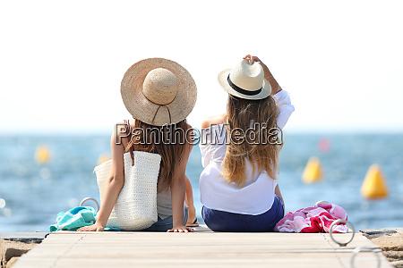 tourists enjoying summer holidays on the
