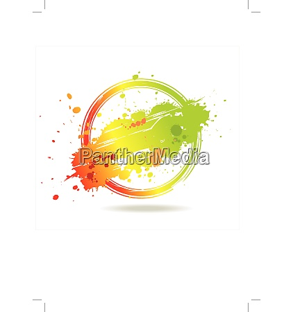 vector grunge background with stamp and