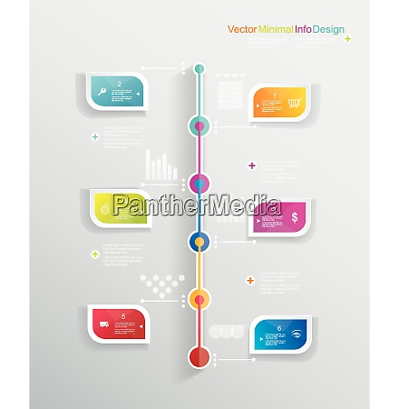 time line design template with paper