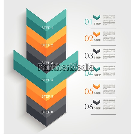 minimal infographics or step banners template