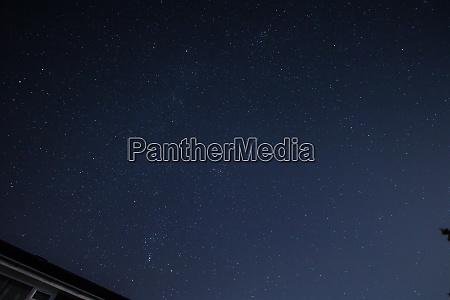 night sky with comet wirtanen