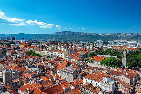 cityscape view of historic split croatia