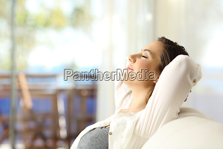 woman relaxing on vacations in an