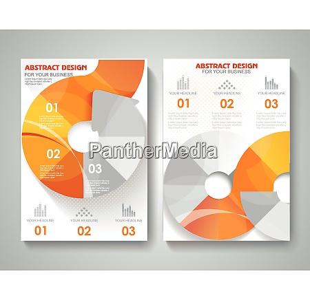 set of presentation of flyer design