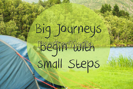 lake camping quote big journeys begin