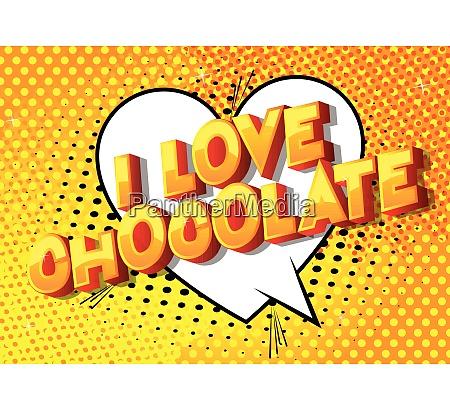i love chocolate comic book