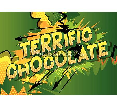 terrific chocolate comic book style