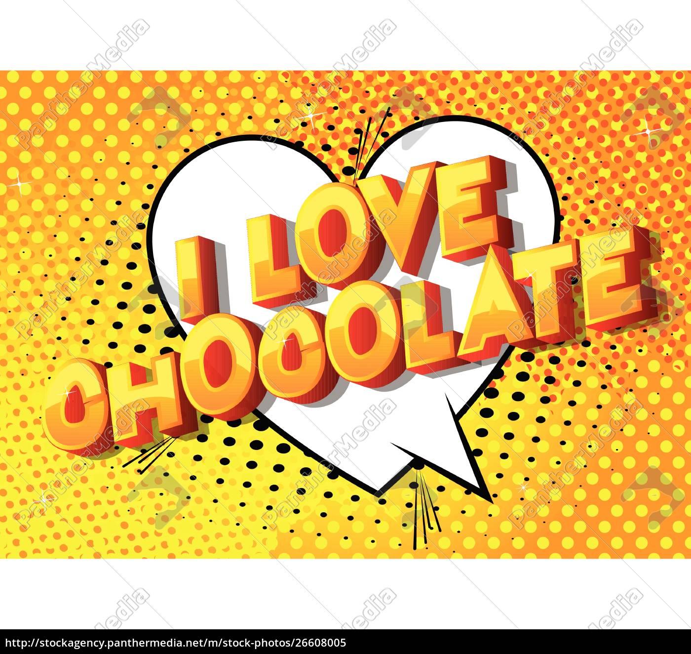i, love, chocolate, -, comic, book - 26608005