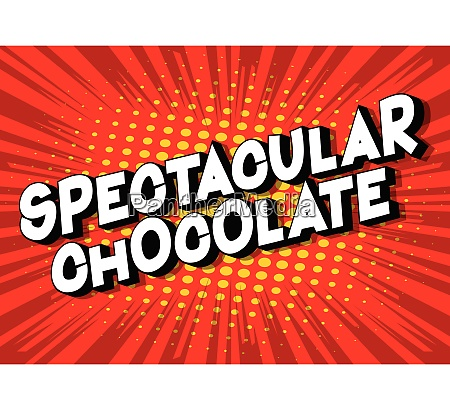 spectacular, chocolate, -, comic, book, style - 26608007