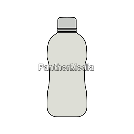 flat design icon of water bottle