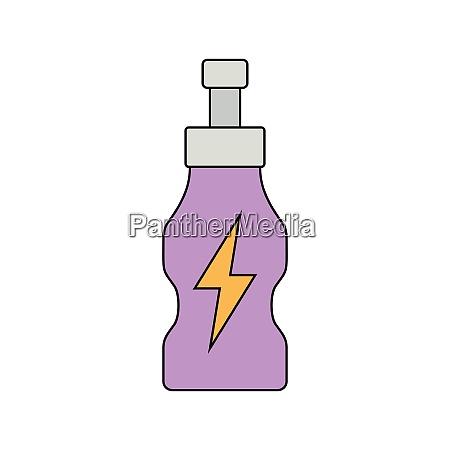 flat design icon of energy drinks