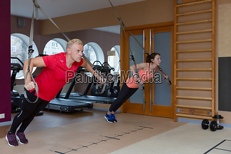 fitness partners sports people are working