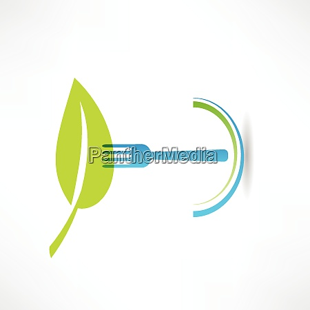 green leaf and blue fork icon
