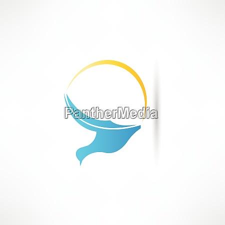 bird abstraction icon