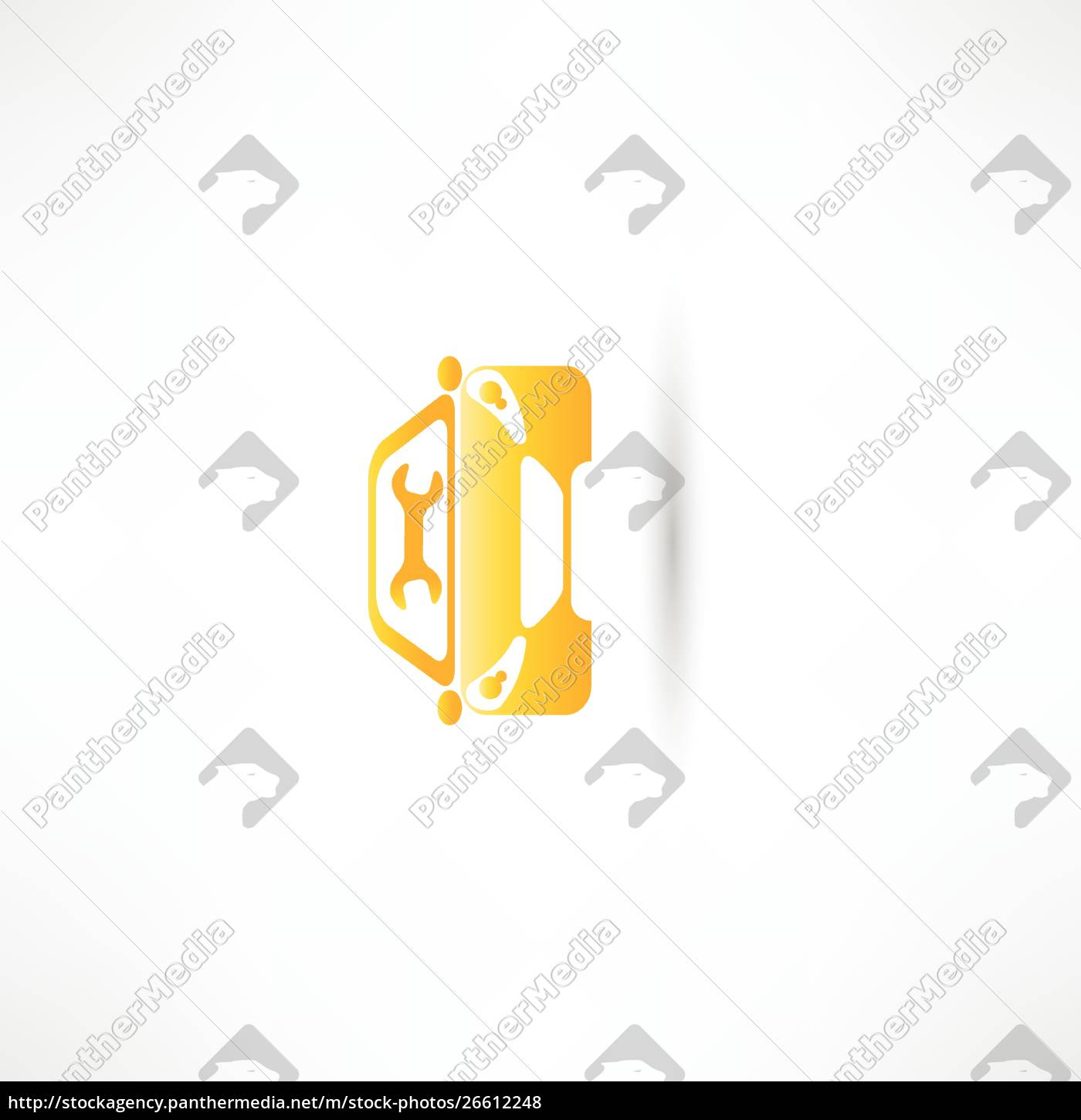 yellow, front, car - 26612248