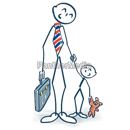stick figure as a single parent