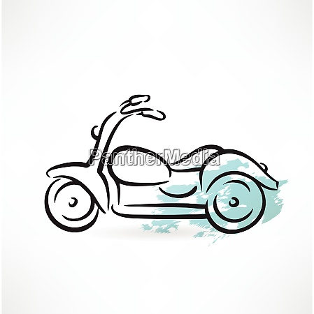 motorcycle grunge icon