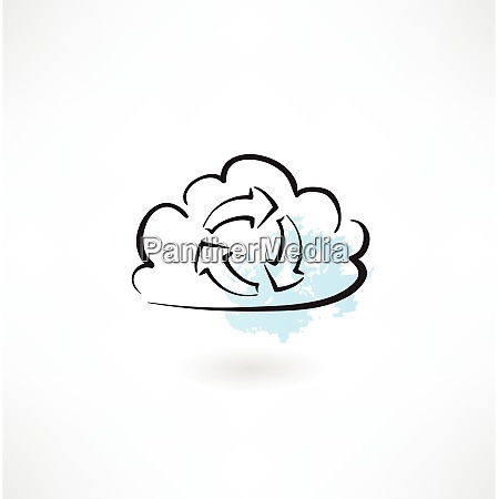 cloud cycle icon