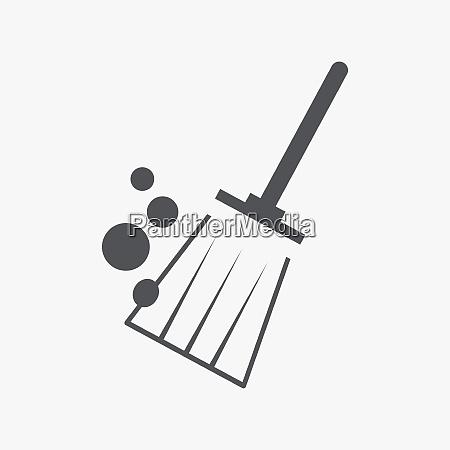 broom brush icon