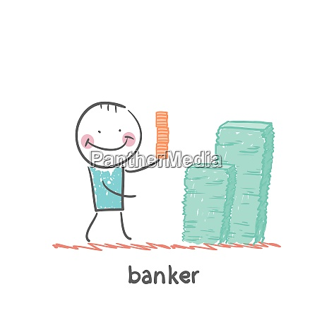 banker and a lot of money