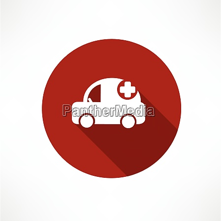 medical car icon flat modern style