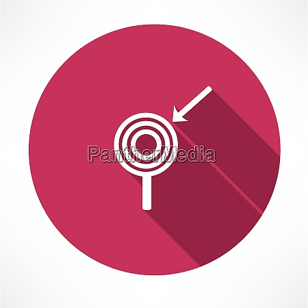 arrow with the target icon flat