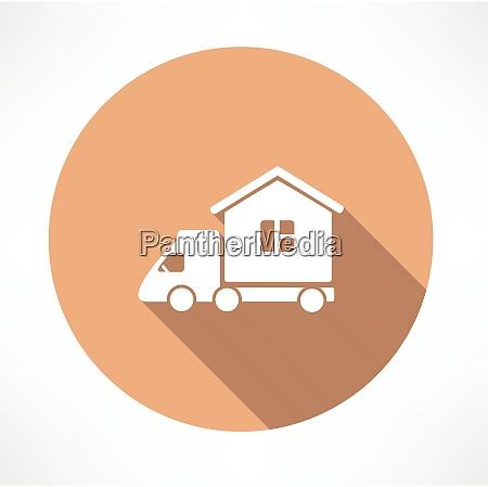motorhome car icon flat modern style
