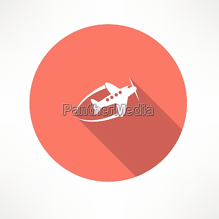 flying airplane flat modern style vector
