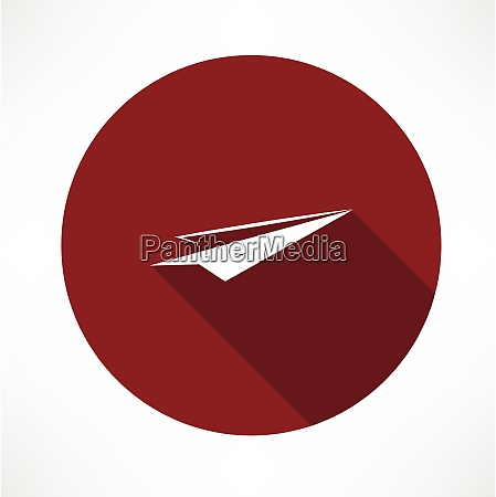 paper airplane icon flat modern style
