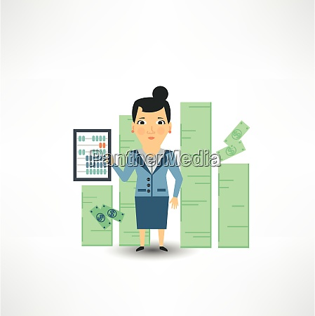 accountant counting money