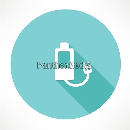 battery power efficiency flat modern style