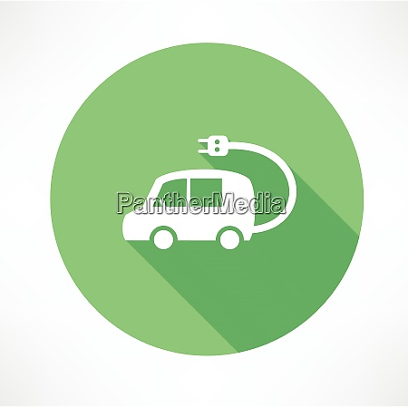 electric car flat modern style vector