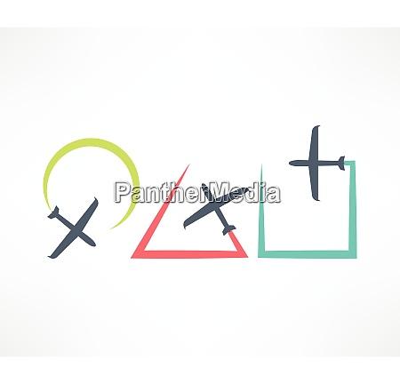 airplane symbol design logo