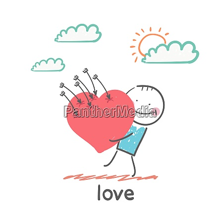 love fun cartoon style illustration the
