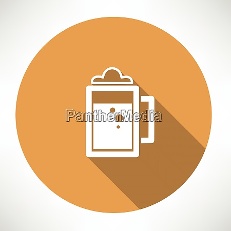 beer icon flat modern style vector