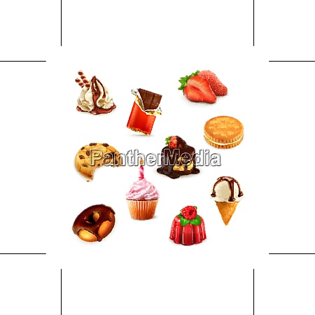 confectionery vector set 1
