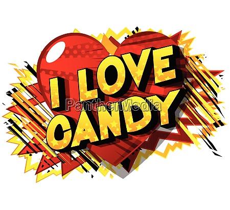 i love candy comic book