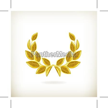 laurel wreath award vector
