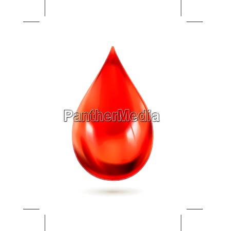 drop of blood vector icon
