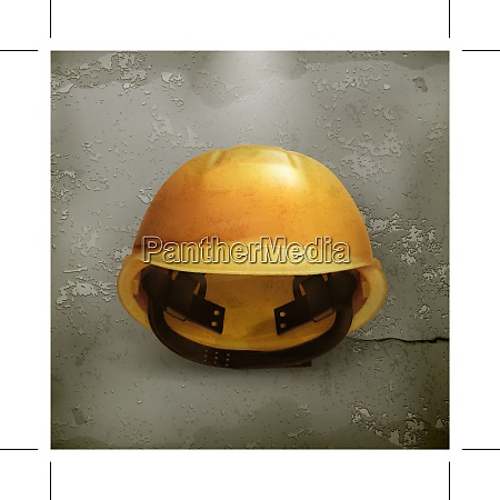 hard hat old style vector