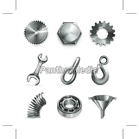 industry set of vector icons