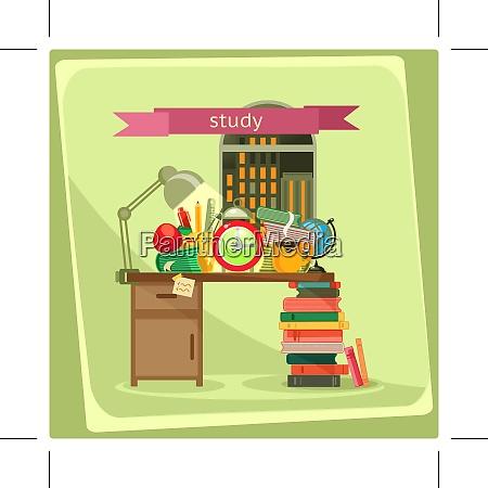 study vector illustration